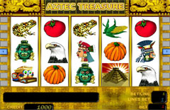 Основной экран Aztec Treasures